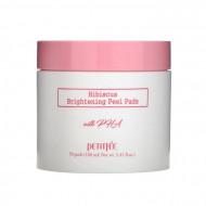 Подушечки выравнивающие с гибискусом и PHA-кислотами PETITFEE Hibiscus Brightening Peel Pads 70шт: фото