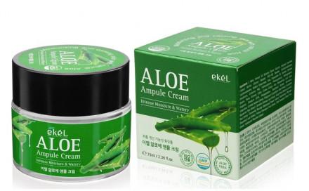Ампульный крем с алоэ Ekel Ampule Cream Aloe 70 мл: фото