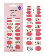 Наклейки для ногтей THE SAEM Nail Wear Art Gel Sticker 05 Coral Nacre: фото
