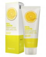 Гель отшелушивающий с экстрактом лимона FarmStay Real Lemon Deep Clear Peeling Gel 100мл: фото