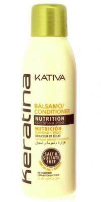 Укрепляющий бальзам-кондиционер с кератином для всех типов волос Kativa KERATINA 60мл: фото