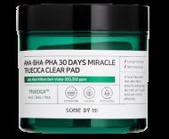 Отшелушивающие подушечки для проблемной кожи с AHA, BHA, PHA кислотами SOME BY MI aha-bha-pha 30 days miracle truecica clear pad 70шт: фото