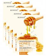 Набор масок тканевых с экстрактом меда EUNYUL NATURAL MOISTURE MASK PACK ROYAL JELLY 22мл*5шт