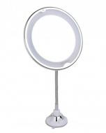 Зеркало косметологическое 10x с подсветкой, на гибкой штанге и присоске LM209 Gezatone