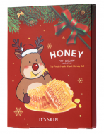 Новогодний набор тканевых масок с мёдом It's Skin The Fresh Mask Sheet Honey GLOBAL NEW YEAR 20г*5шт